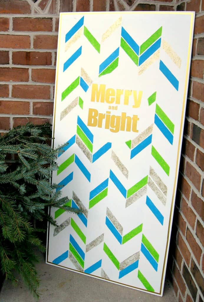 Merry Bright Wood Wall Art Christmas Sign by A turtles Life for me