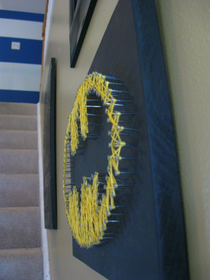 batman string art sideview