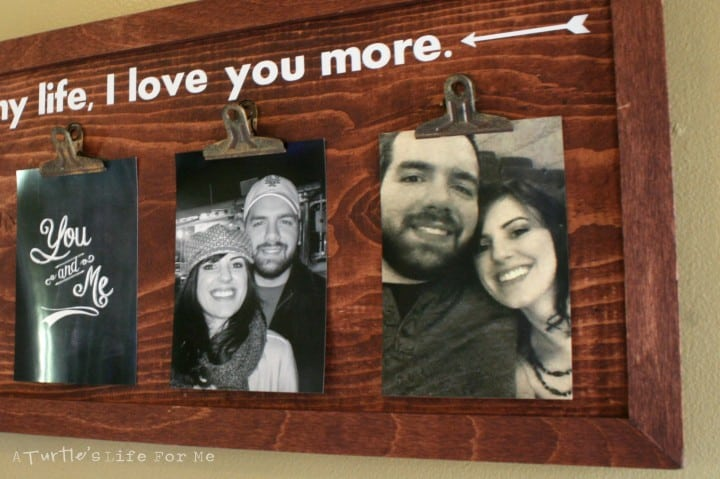 wood photo frame holder wall sign