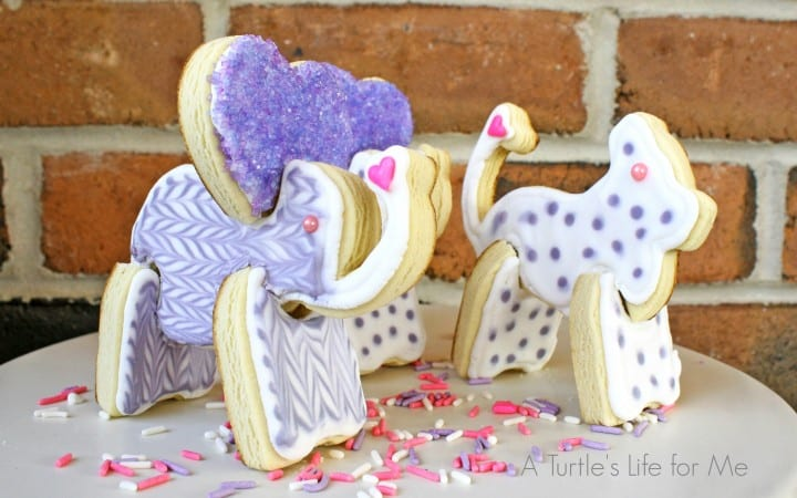 3D cutout animal sugar cookies
