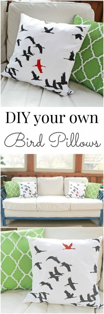 DIY your own bird pillows