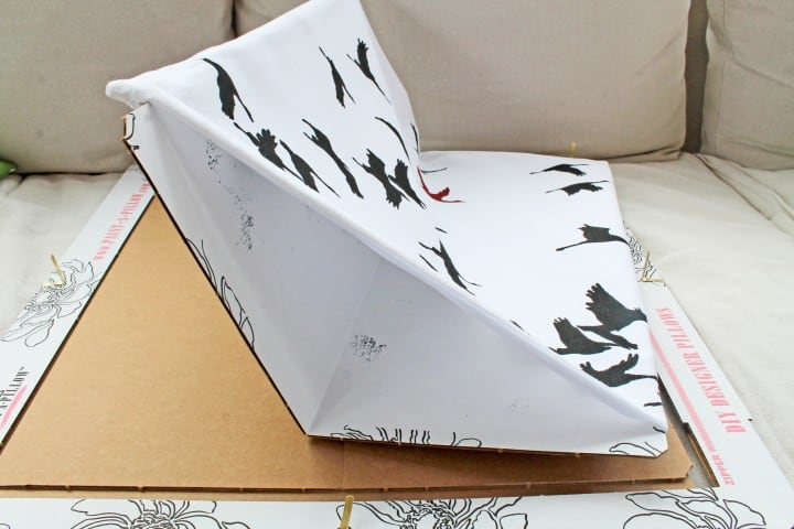 bird stencil pillow kit