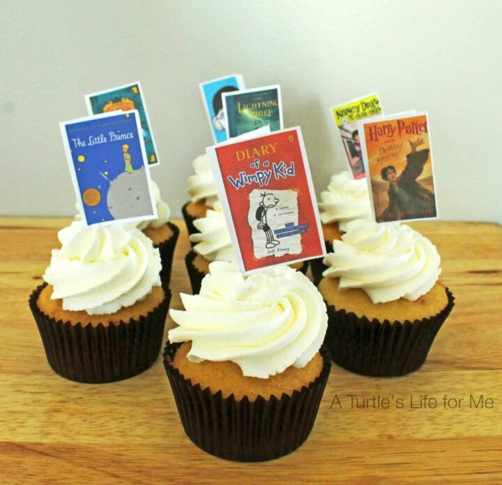 book cover cupcake toppers- A Turtle's Life for Me 1
