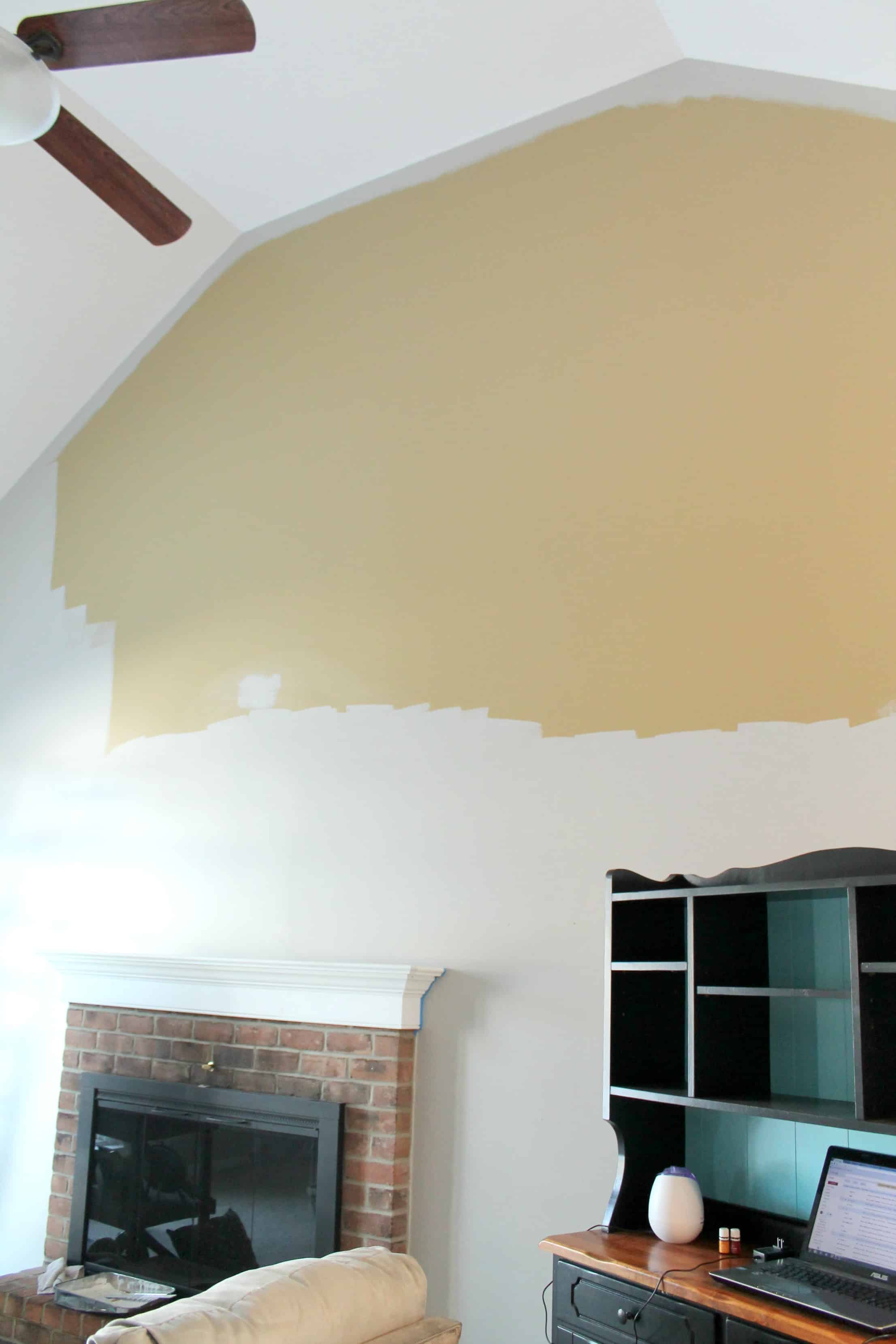How to paint a room with high ceilings a turtle 39 s life for Tips for painting ceiling