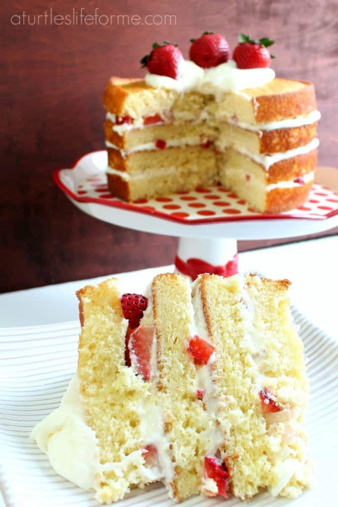 strawberry lemon cream cake- A Turtle's Life for Me