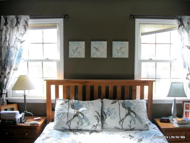 master bedroom headboard before
