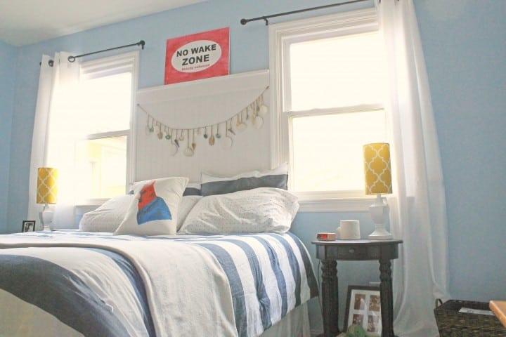 master bedroom makeover after bedding