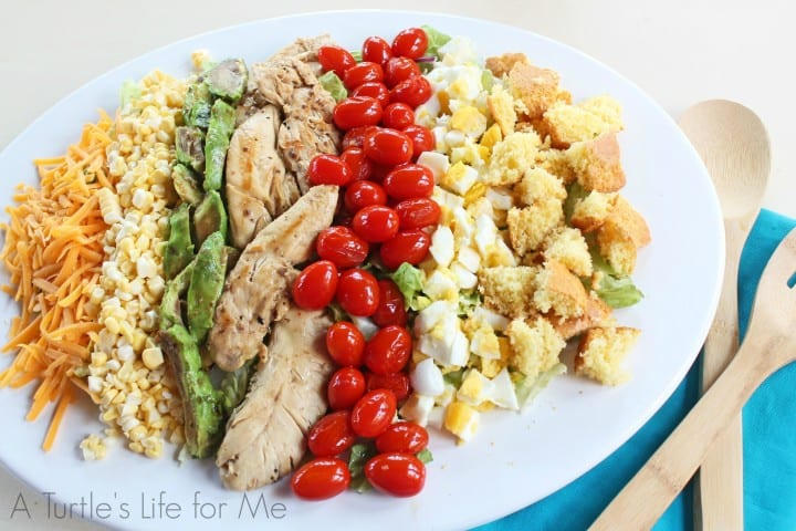 Grilled chicken Cobb Salad- A Turtle's Life for Me
