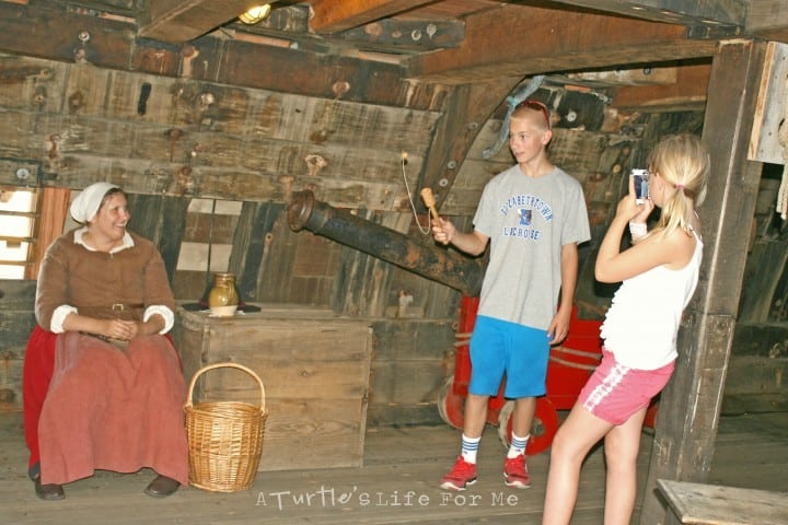 New England Road Trip to Plymouth, Mass. Playing games on the Mayflower