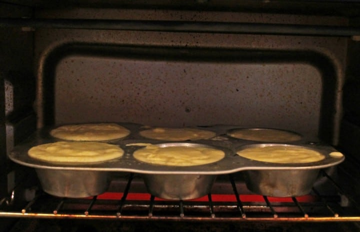 corn muffins in the toaster oven