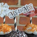 Gold Foiled Cupcake Toppers