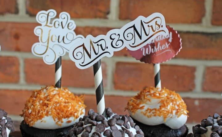 minc gold foil machine cupcake toppers