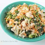 Broccoli Cauliflower Salad - A Turtle's Life for Me