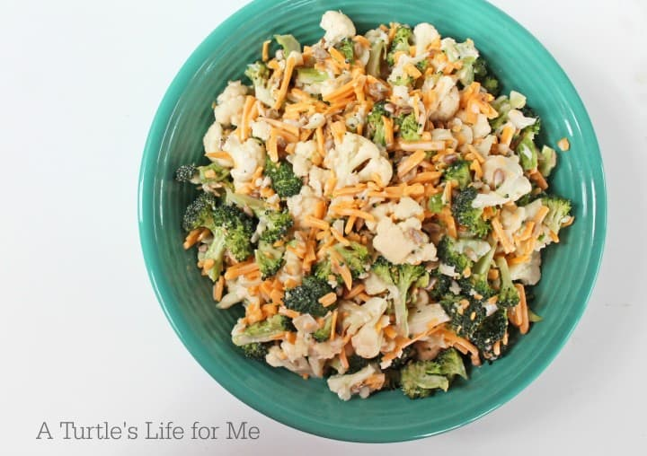 Broccoli Cauliflower Salad Recipe - A Turtle's Life for Me