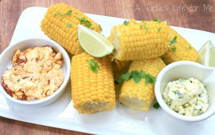 corn on cob cilantro chipotle lime butter