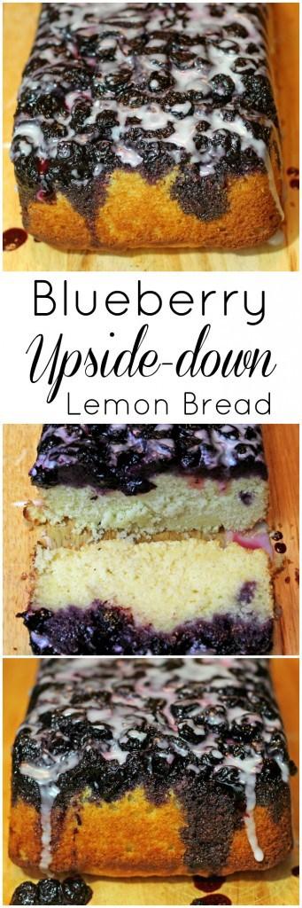 Blueberry Upside Down Lemon Bread Recipe with cornmeal