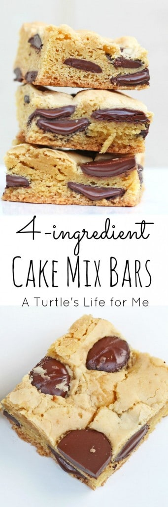 Cake Mix Bars with only 4 ingredients!