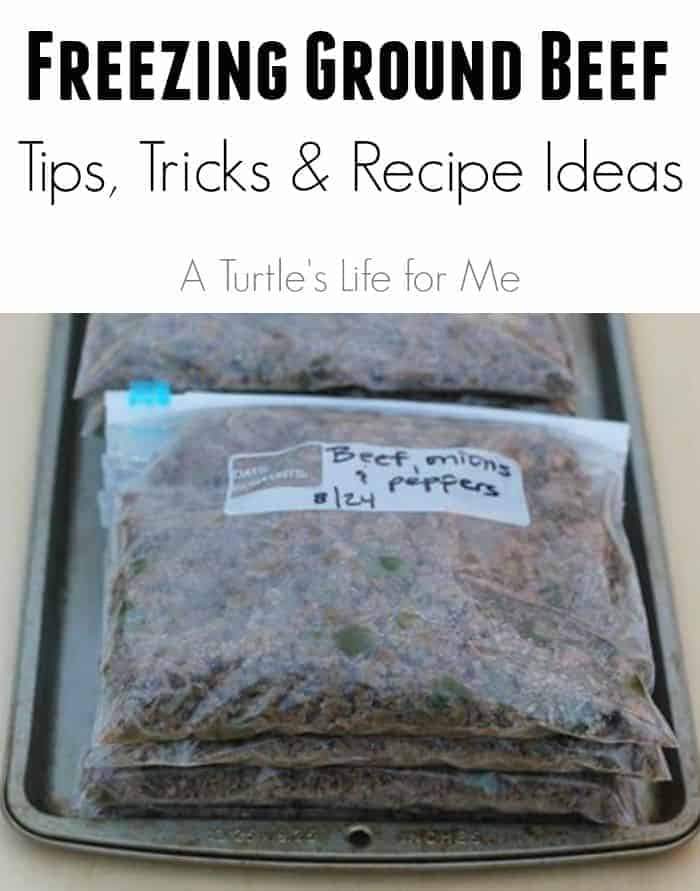 Freezing Ground Beef- Tips Tricks and Recipe Ideas