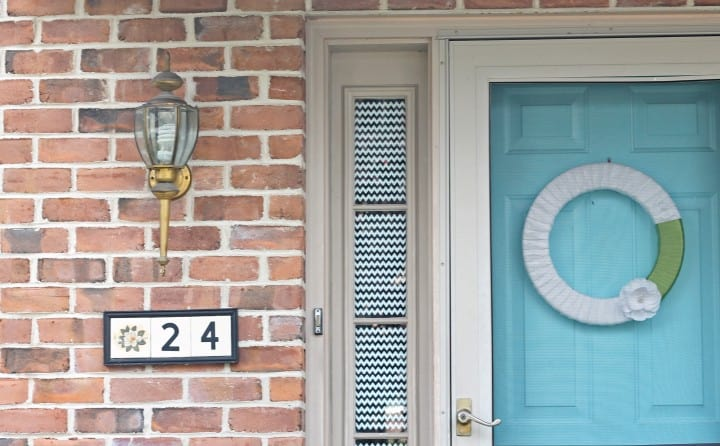 House number plaque before