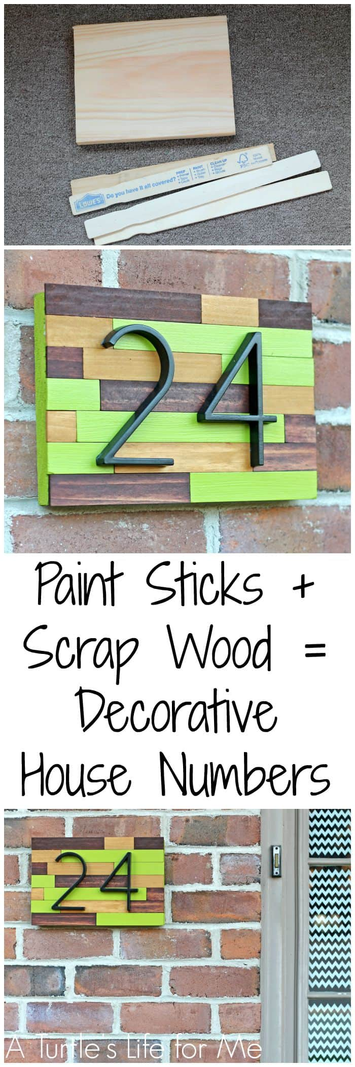 Paint Stick And Scrap Wood Make A Cheap And Easy Way To Add Some Curb Appeal