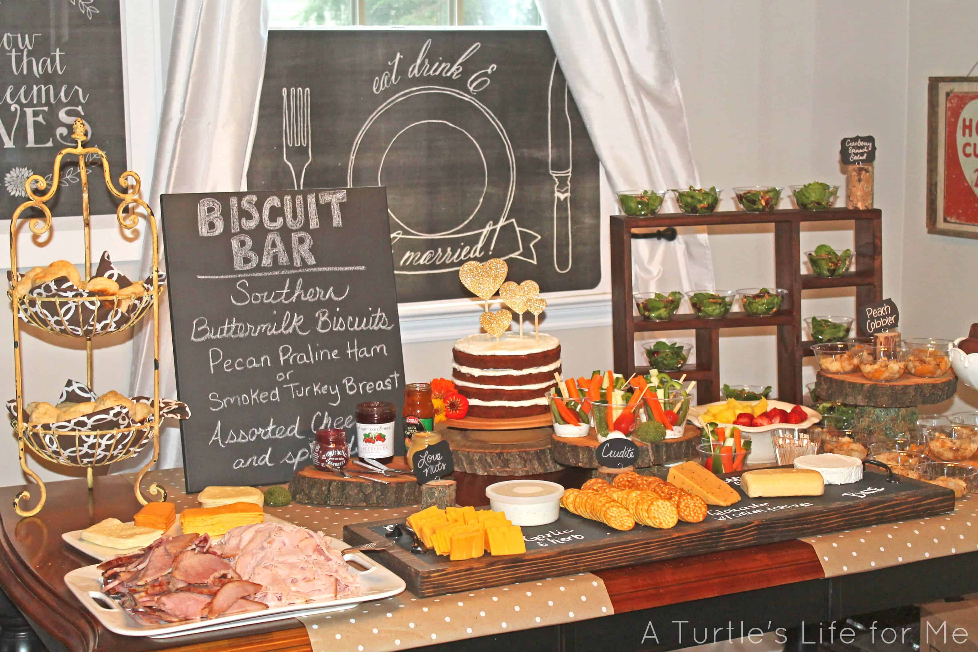 Rustic Baby Shower Food ~ Bridal shower food a turtle s life for me