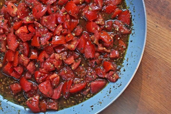 Tomatoes roasting