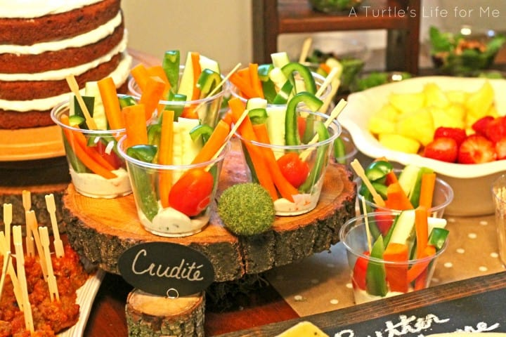 individual crudite party cups