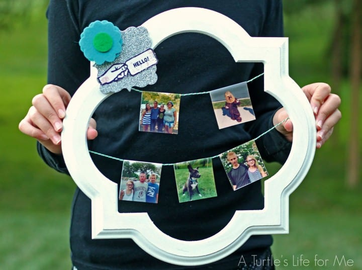 "Make a ""wreath"" using your Instagram pictures! So easy and great for tweens!"