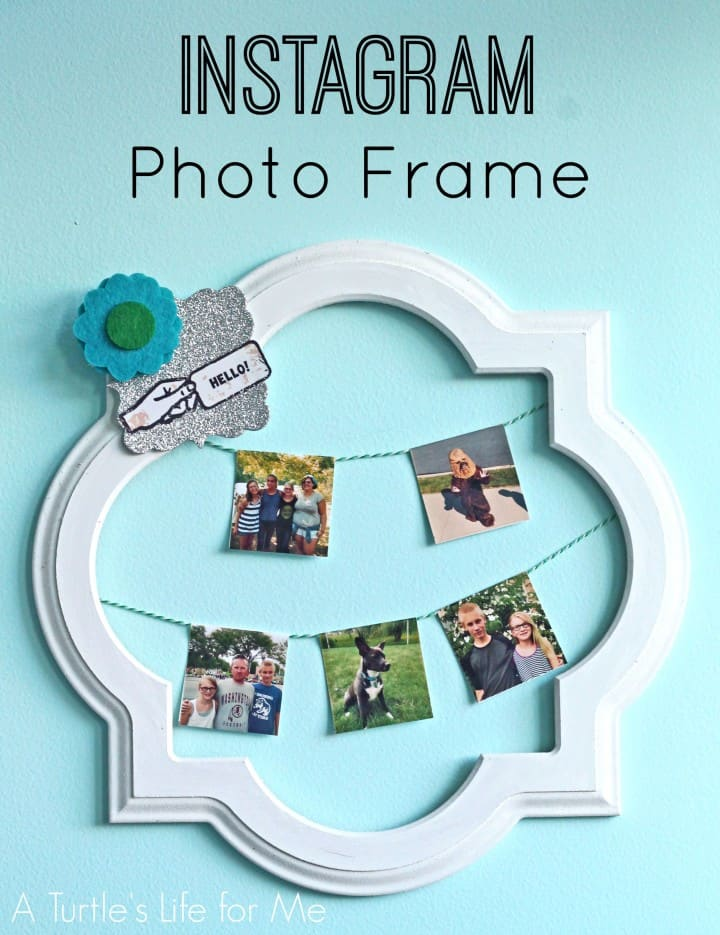 zink polaroid wreath with instagram pictures - A Turtle's Life for Me
