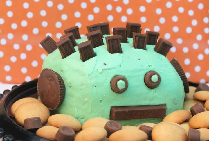 Mint Chocolate Chip Halloween Cheese Ball