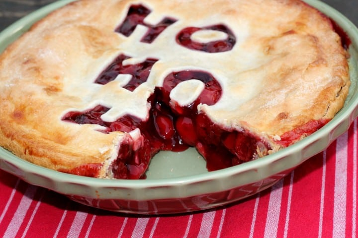 Christmas Cherry Pie for the holidays
