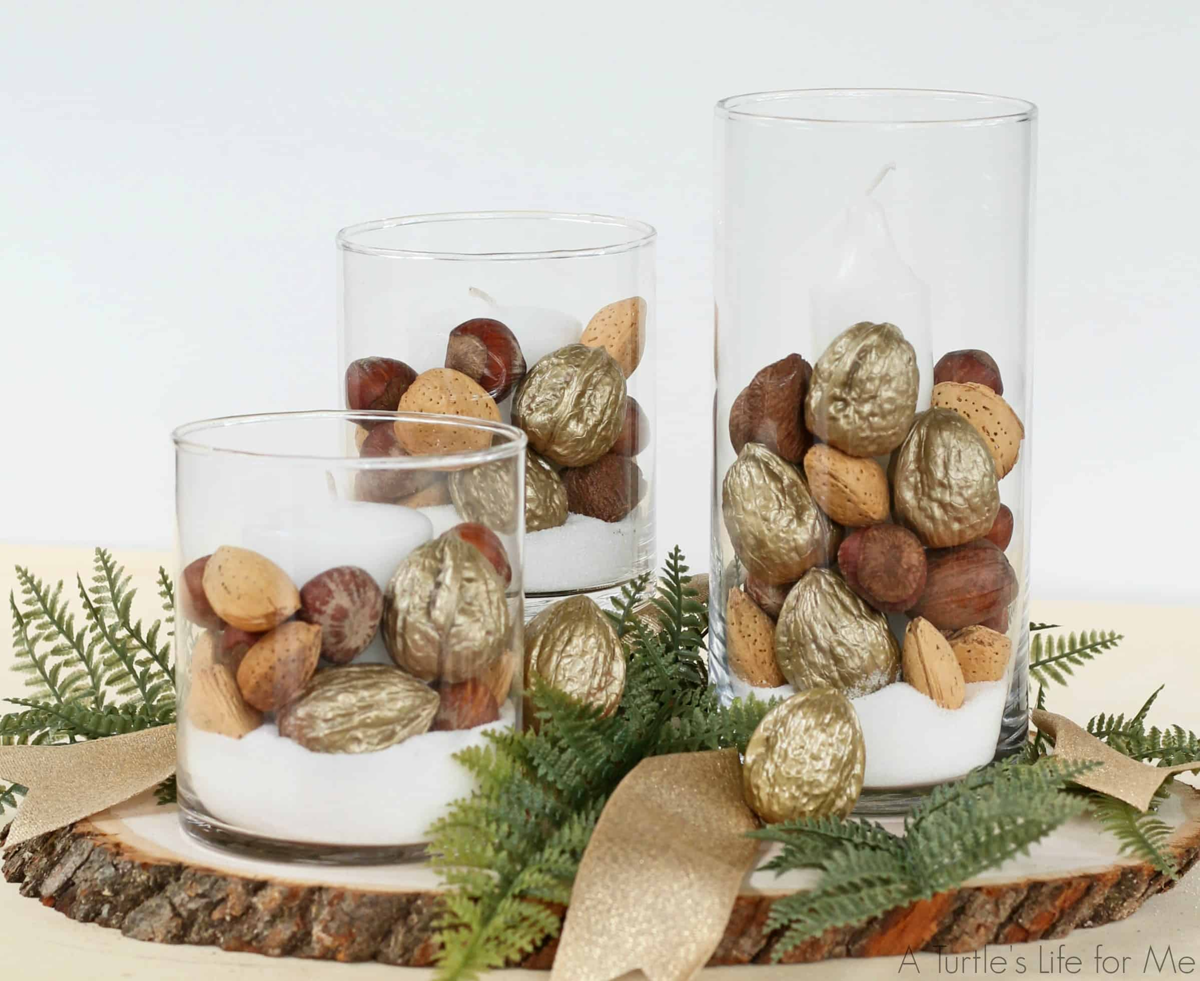 DIAMOND Nuts Holiday Centerpiece with gold walnuts 1(1)