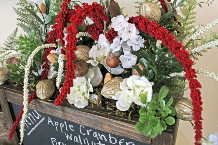 Holiday Floral Centerpiece with Nuts