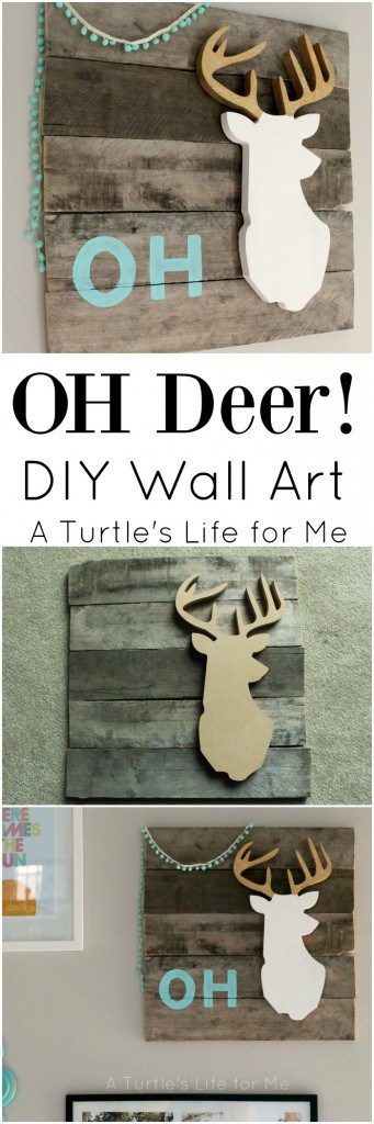 Oh deer DIY wall art