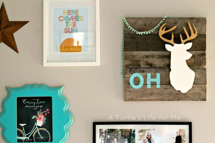 Oh deer gallery wall