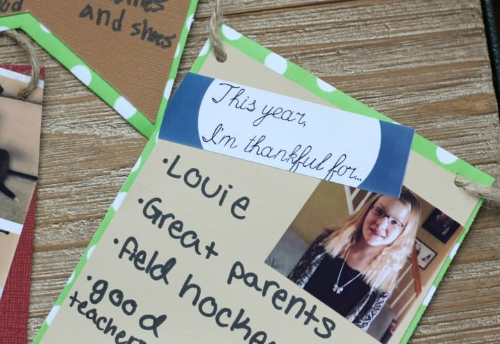 Create a thankful banner to remind yourself of all of your blessings!