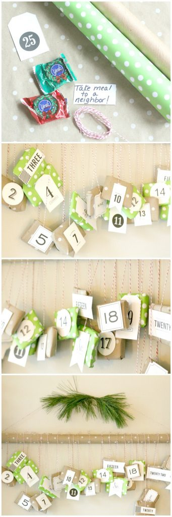 Advent calendar filled with candy and activities for the kids and whole family!