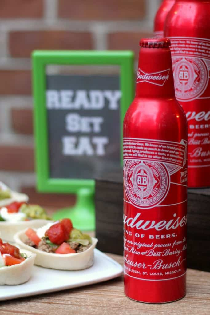 Budweiser mini taco shells