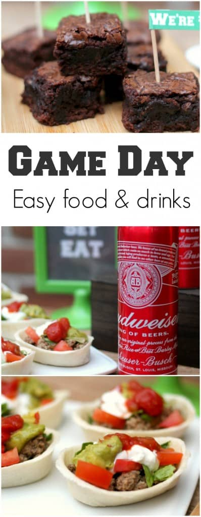 Football game day food and drinks