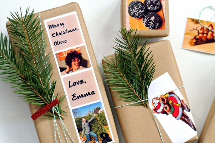 Personalized gift wrapping for Christmas