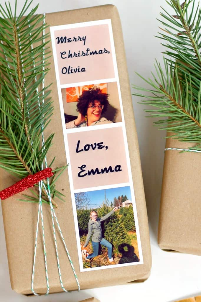 This personalized gift wrapping is so much cuter than regular gift tags!