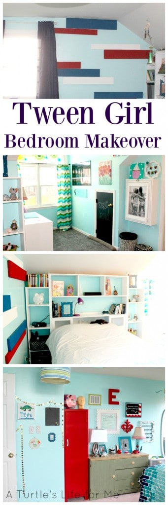 Tween Girl bedroom makeover with lots of before and afters