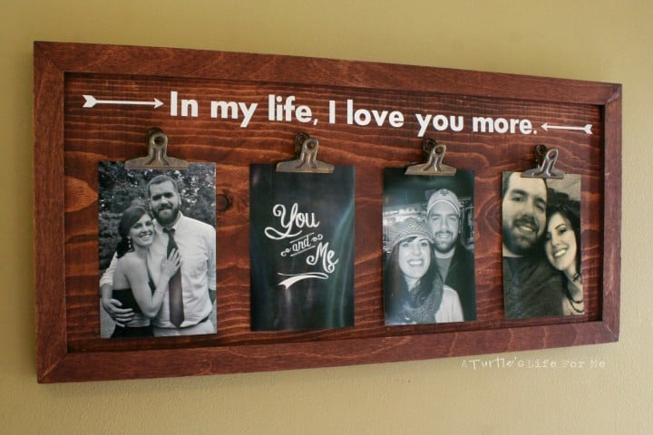 Wood Photo Display Board