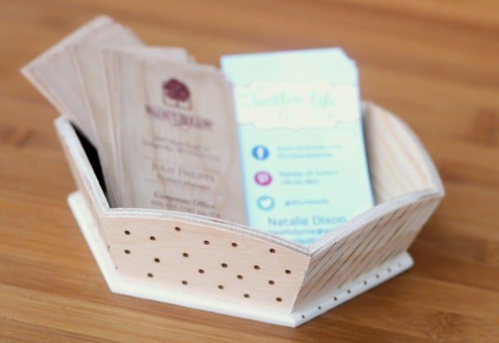 wood burning card holder