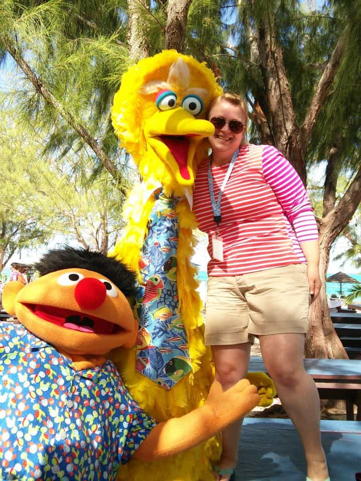Big Bird and Ernie at Beaches Turks & Caicos Resort