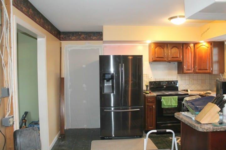 kitchen garage door moved