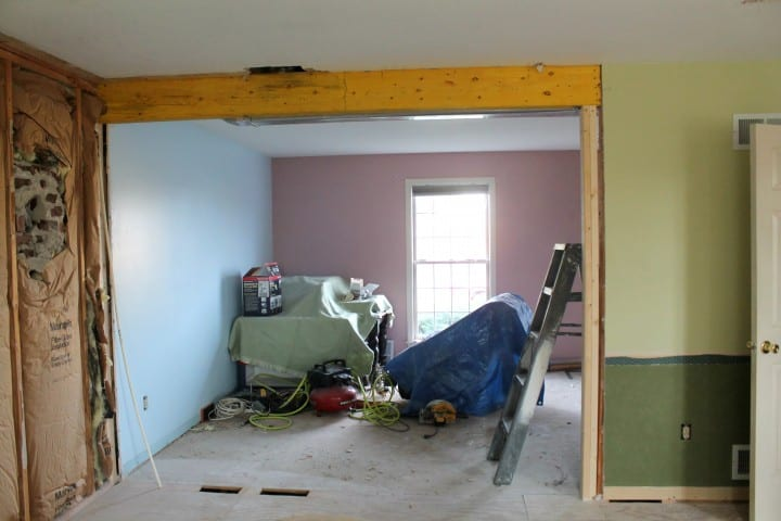 opening up the living rooms