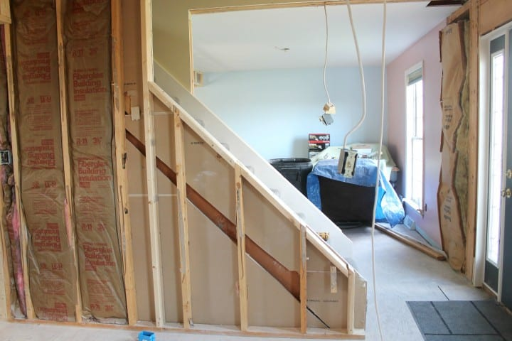 stairwell during construction