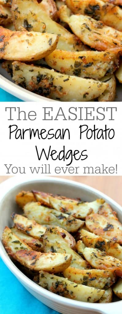 The easiest parmesan potato wedges
