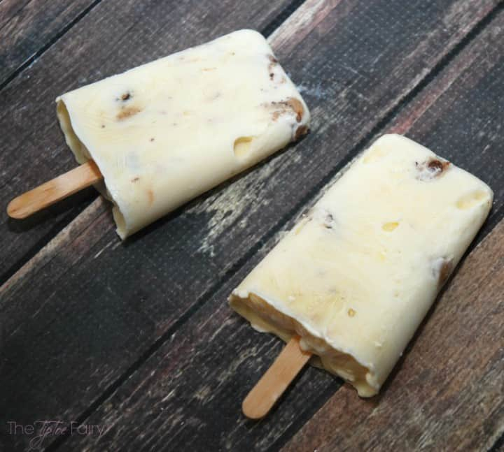 Cookie Dough Yogurt Popsicles